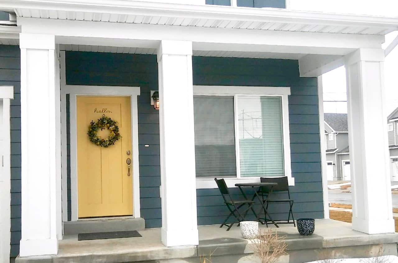 Colors wreathes benches hooks shoes...What\u0027s going on with & Keeping it Real | Our Front Doors \u0026 Entryways | We Three Shanes